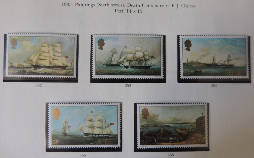 Jersey 1985 Paintings (sixth series) Ouless set of 5 values MNH
