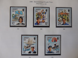 Jersey 1985 International Youth Year set of 5 values MNH