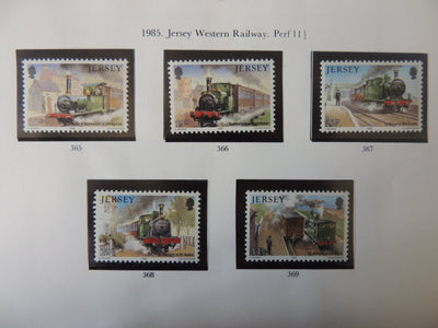 Jersey 1985 Western Railway set of 5 values MNH