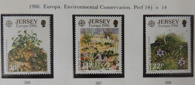 Jersey 1986 Europa Environment conservation set of 3 values MNH