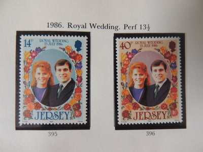 Jersey 1986 Royal Wedding set of 2 values MNH