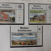 Jersey 1987 Europa Architecture set of 3 values MNH