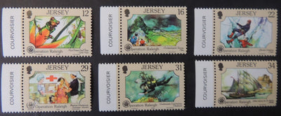 Jersey 1988 Operation Raleigh set of 6 values SG452-457 unmounted mint (see scan, these are the stamps you will receive)