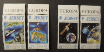Jersey 1991 Europa Europe in Space set of 4 values SG545-548 unmounted mint (see scan, these are the stamps you will receive)