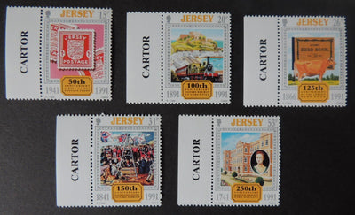 Jersey 1991 Europa Anniversaries set of 5 values SG549-553 u/m (see scan, these are the stamps you will receive)