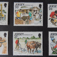 Jersey 1991 Overeseas Aid set of 6 values SG558-563 u/m (see scan, these are the stamps you will receive)