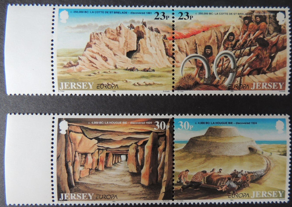 Jersey 1994 Europa Archaeological Discoveries set of 4 values SG655-658 u/m (see scan, these are the stamps you will receive)