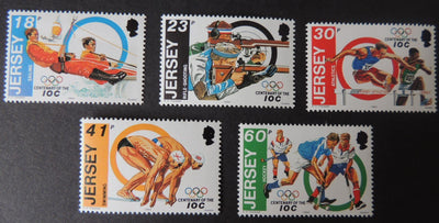 Jersey 1994 Olympic Centenary set of 5 values SG665-669 u/m (see scan, these are the stamps you will receive)