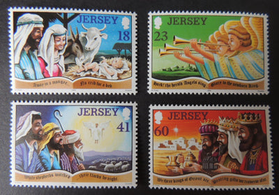Jersey 1994 Christmas set of 4 values SG680-683 u/m (see scan, these are the stamps you will receive)