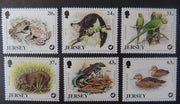 Jersey 1997 Wildlife preservation trust set of 6 values SG824-829 unmounted mint