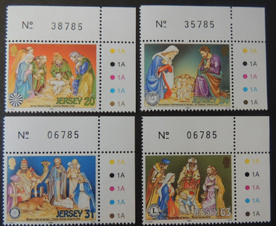 Jersey 1998 Christmas SG881-884 set of 4 values unmounted mint (see scan, these are the stamps you will receive)