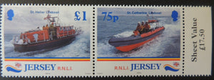 Jersey 1998 175th Anniversary of the National Lifeboat Institution SG890-891 set of 4 values unmounted mint