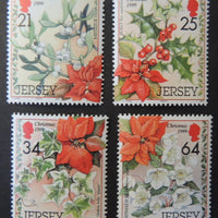 Jersey 1998 Christmas Festive foliage SG923-926 set of 4 values unmounted mint (see scan, these are the stamps you will receive)