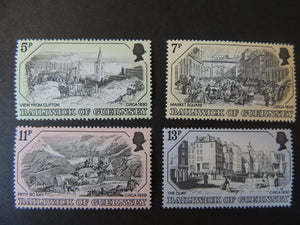 GUERNSEY 1978 OLD GUERNSEY PRINTS SG161-164 MNH SET 4 VALUES
