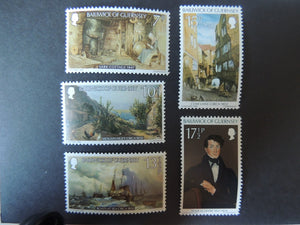 GUERNSEY 1980 CHRISTMAS PAINTINGS SG221-225 MNH SET 5 VALUES