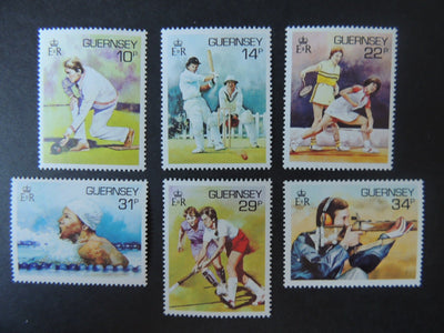 GUERNSEY 1986 SPORT SG371-376 MNH SET 6 VALUES