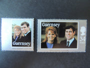 GUERNSEY 1986 ROYAL WEDDING SG369-370 MNH SET 2 VALUES