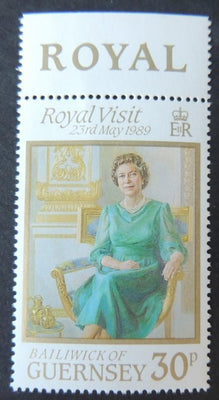 GUERNSEY 1989 50th ROYAL VISIT SG462 MNH SET 1 VALUE