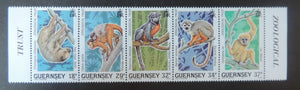 GUERNSEY 1989 ZOOLOGICAL TRUST SG469-473 MNH SET 5 VALUES