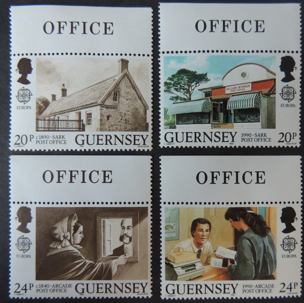 GUERNSEY 1990 POST OFFICE BUILDINGS SG486-489 MNH SET 4 VALUES