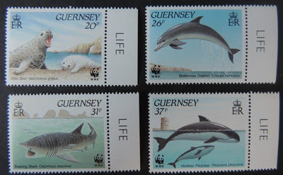 GUERNSEY 1990 MARINE LIFE SG501-504 MNH SET 4 VALUES