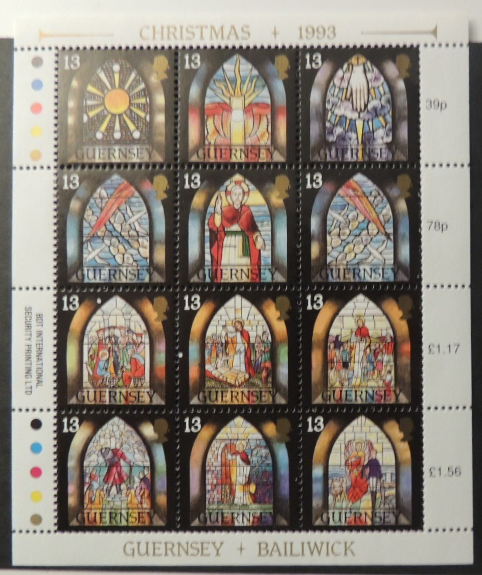 GUERNSEY 1993 CHRISTMAS SG622-633 MNH SET 12 VALUES