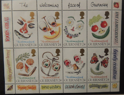 GUERNSEY 1995 GREETINGS STAMPS SG663-670 MNH 8 VALUES