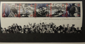 GUERNSEY 1995 50th ANNIVERSARY OF LIBERATION MINIATURE SHEET MS677 MNH 5 VALUES