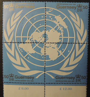 GUERNSEY 1995 50th ANNIVERSARY UNITED NATIONS SG682-685 MNH 4 VALUES