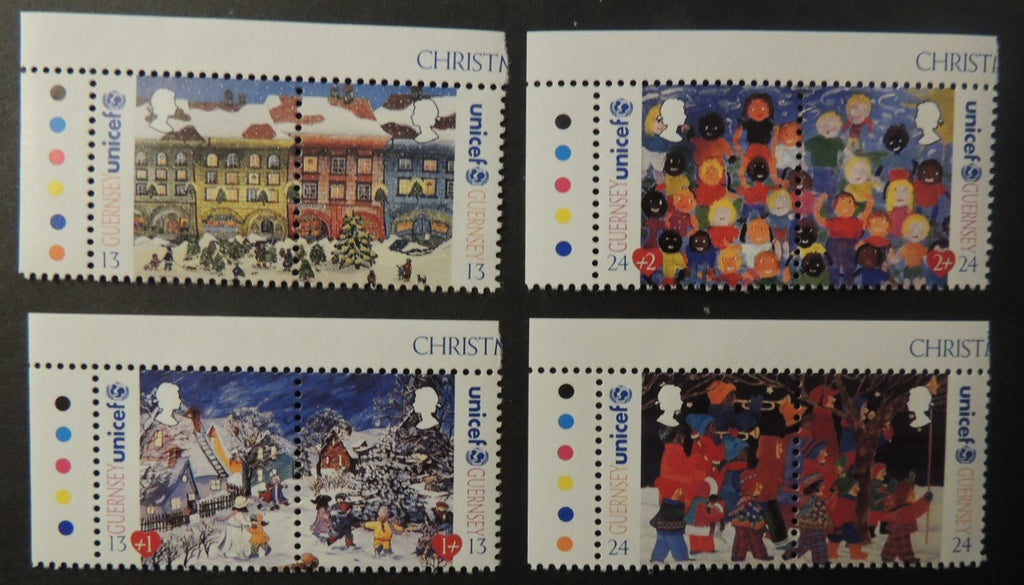 GUERNSEY 1995 CHRISTMAS 50th ANNIVERSARY OF UNICEF SG686-693 MNH 8 VALUES