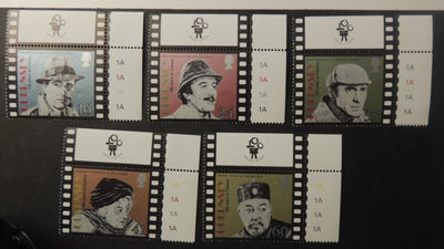 GUERNSEY 1996 CENTENARY OF CINEMA DETECTIVES SG711-715 MNH 5 VALUES