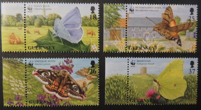 GUERNSEY 1997 BUTTERFLIES SG730-733 MNH 4 VALUES