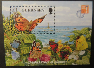 GUERNSEY 1997 BUTTERFLIES MINIATURE SHEET MS734 MNH 1 VALUE