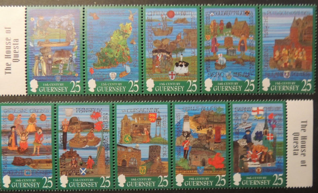 GUERNSEY 1998 MILLENIUM TAPESTRIES SG760-769 MNH 10 VALUES