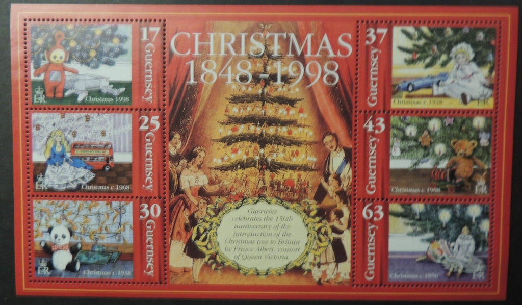 GUERNSEY 1998 CHRISTMAS MINIATURE SHEET MS816 MNH 6 VALUES