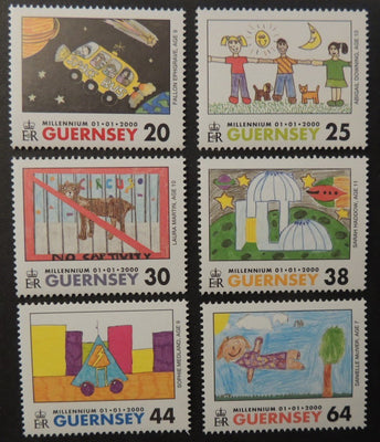 GUERNSEY 2000 MILLENIUM STAMPIN THE FUTURE SG851-856 MNH 6 VALUES