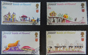 JERSEY 1970 BATTLE OF THE FLOWERS PARADE SET OF 4 VFU