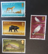 JERSEY 1972 WILDLIFE PRESERVATION TRUST SET OF 4 VFU