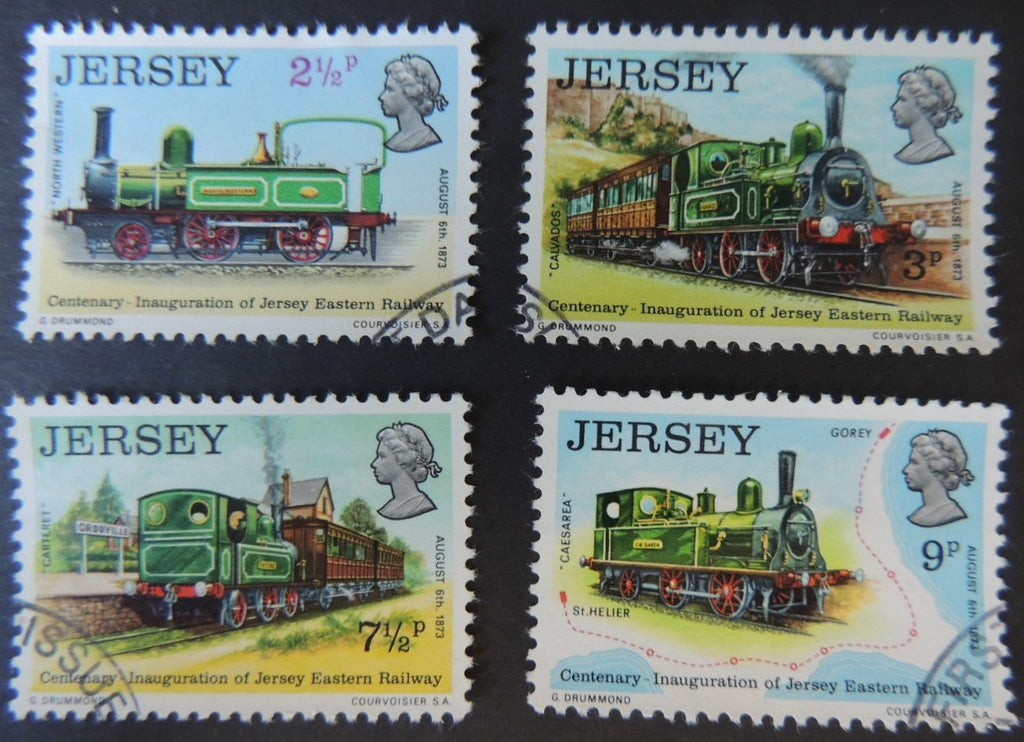 JERSEY 1973 EASTERN RAILWAY SET OF 4 VFU