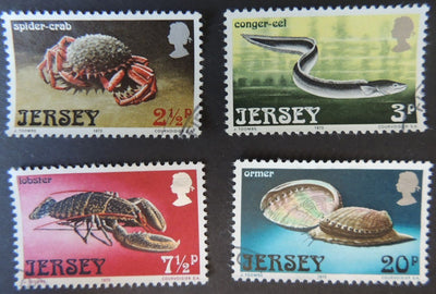 JERSEY 1973 MARINE LIFE SET OF 4 VFU