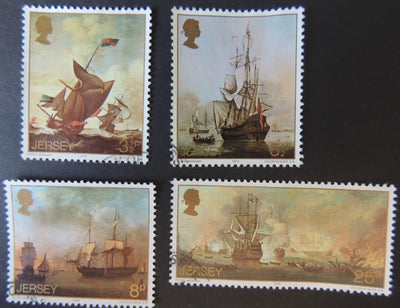 JERSEY 1974 PAINTINGS BY PETER MONAMY SET OF 4 VFU