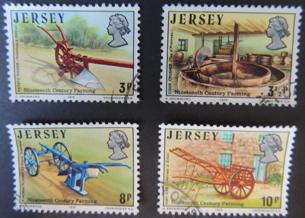 JERSEY 1975 19th CENTURY FARMING SET OF 4 VFU