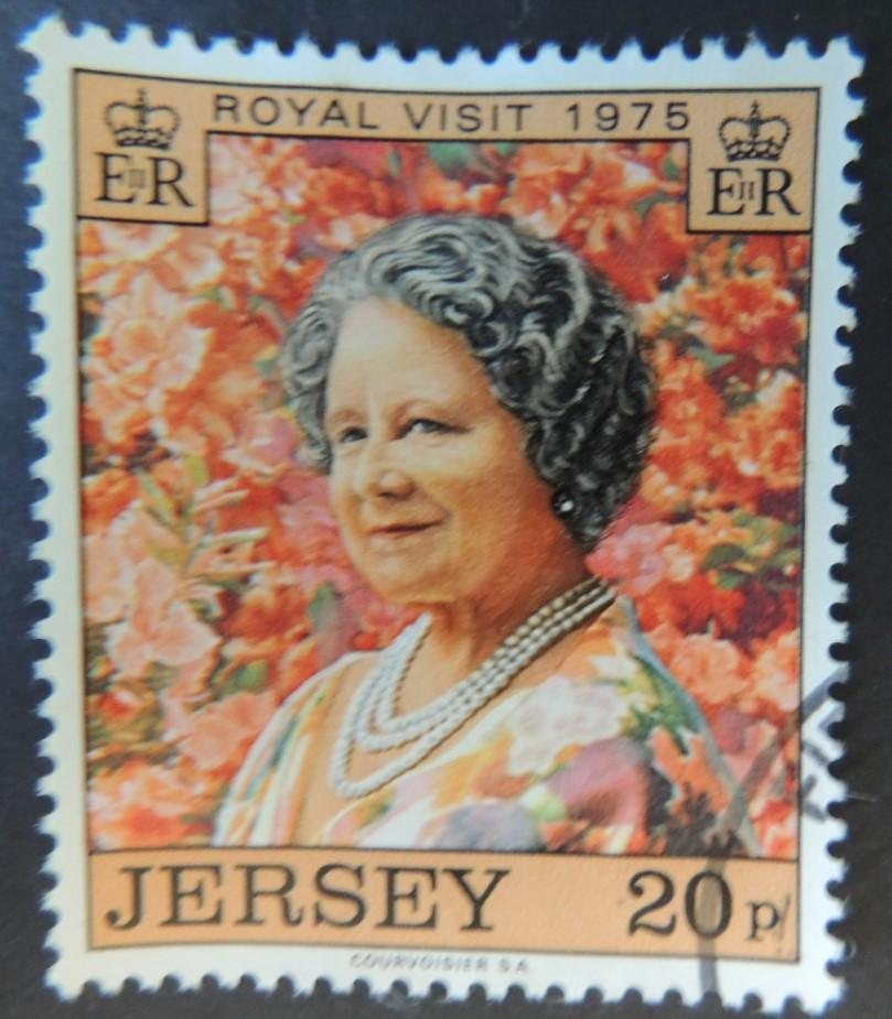 JERSEY 1975 QUEEN MOTHER VISIT SET OF 1 VFU