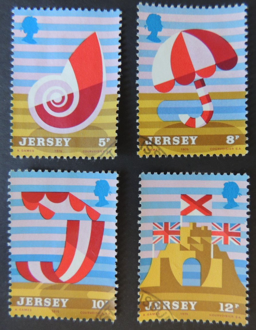 JERSEY 1975 TOURISM SET OF 4 VFU