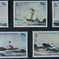 ALDERNEY 1987 SHIPWRECKS SET OF 5 VALUES MNH A28-A31