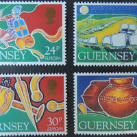 GUERNSEY 1994 EUROPA ARCHAEOLOGICAL DISCOVERIES SET OF 4 VALUES MNH SG634-637