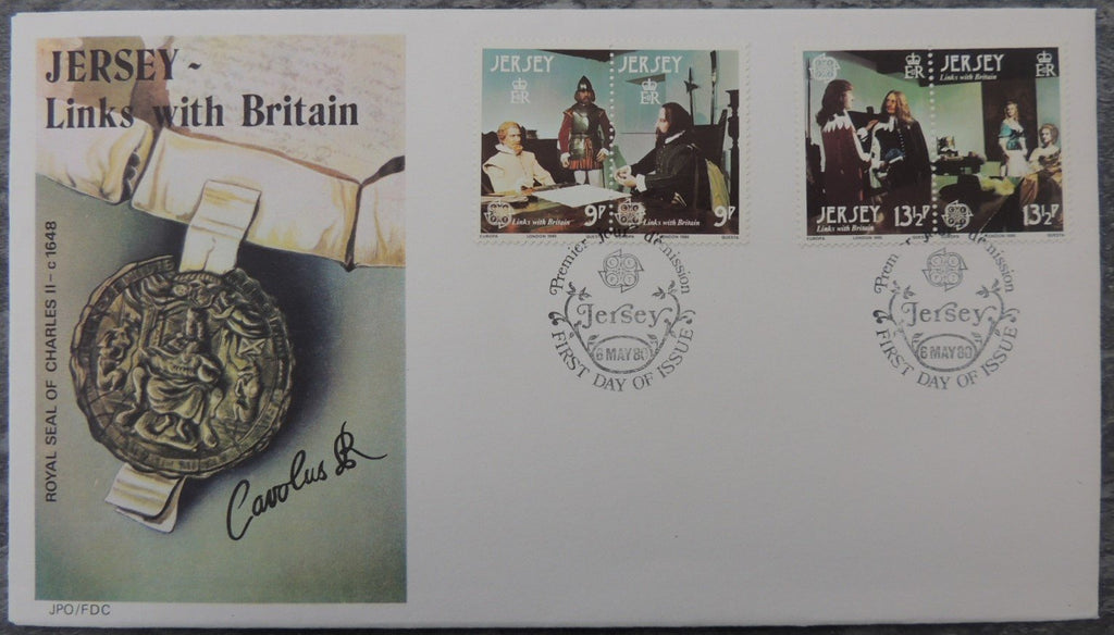 Jersey 1980 Europa Links with Britain FDC 4 values