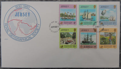 Jersey 1980 Operation Drake FDC 6 values
