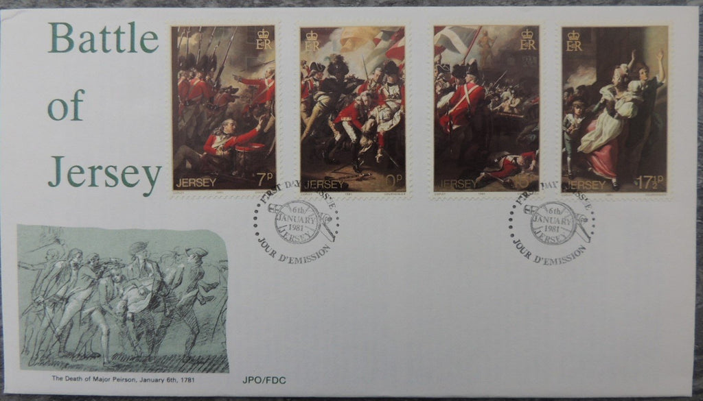 Jersey 1981 Battle of Jersey FDC 4 values