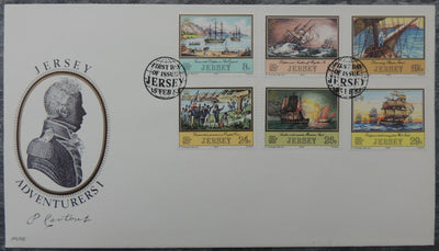 Jersey 1983 Adventurers Philippe de Carteret FDC 6 values